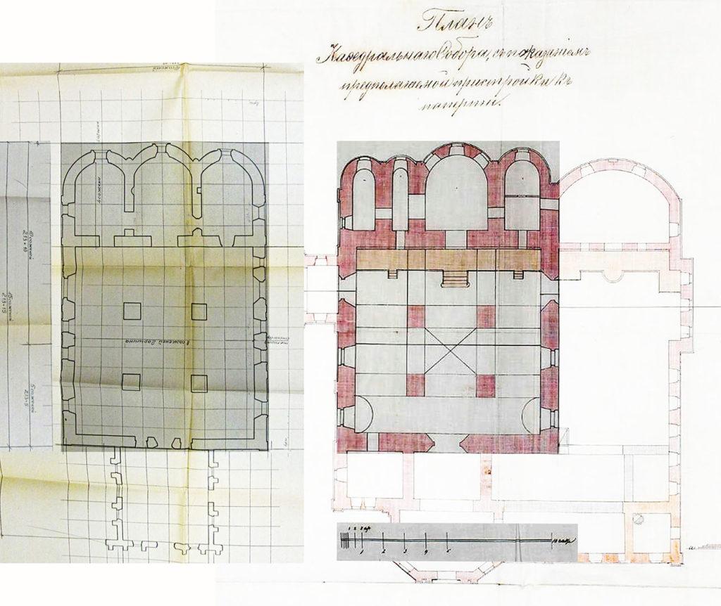 чертежи Успенского собора в Ярославле