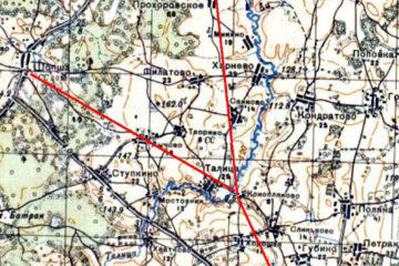 Дороги Гаврилов-Ямского района, карта РККА
