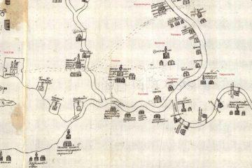 Гаврилов-Ямский район на чертеже XVII века