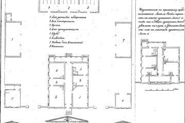 Типовой проект почтовой станции. Утвержден 22 мая 1823 года.