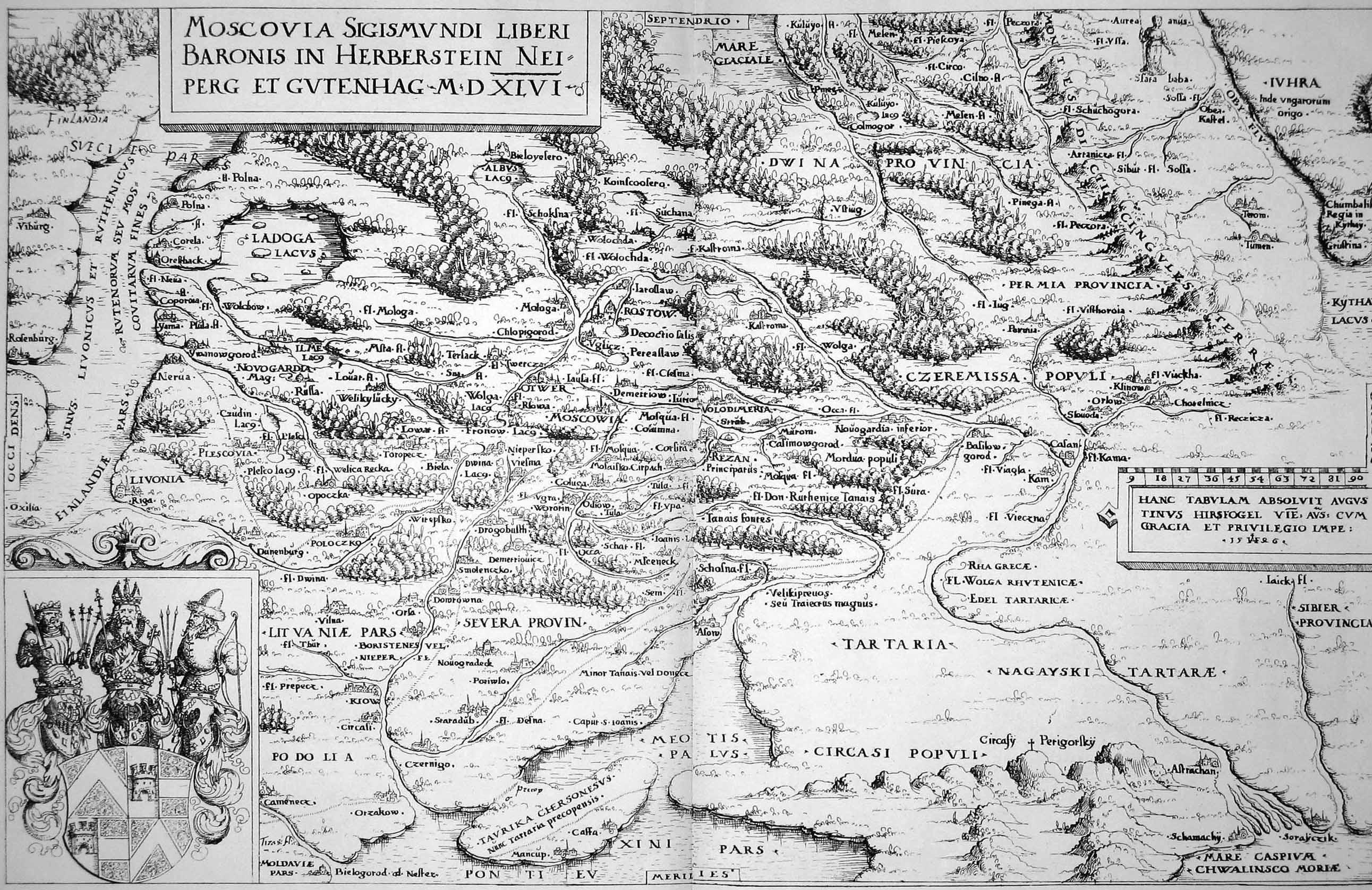 Карта Сигизмунда Герберштейна 1546 г.