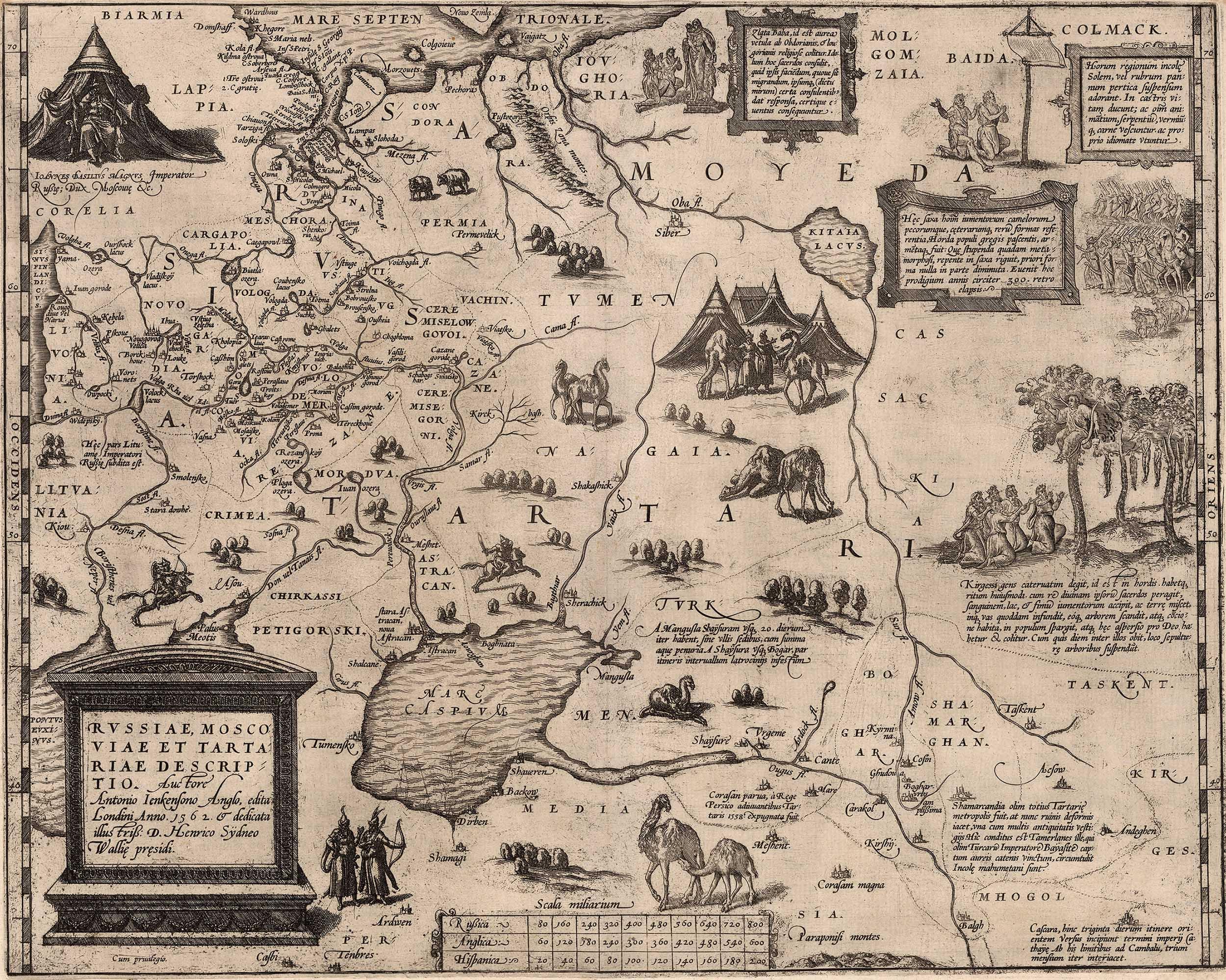 Карта Антония Дженкенсона 1562 г.
