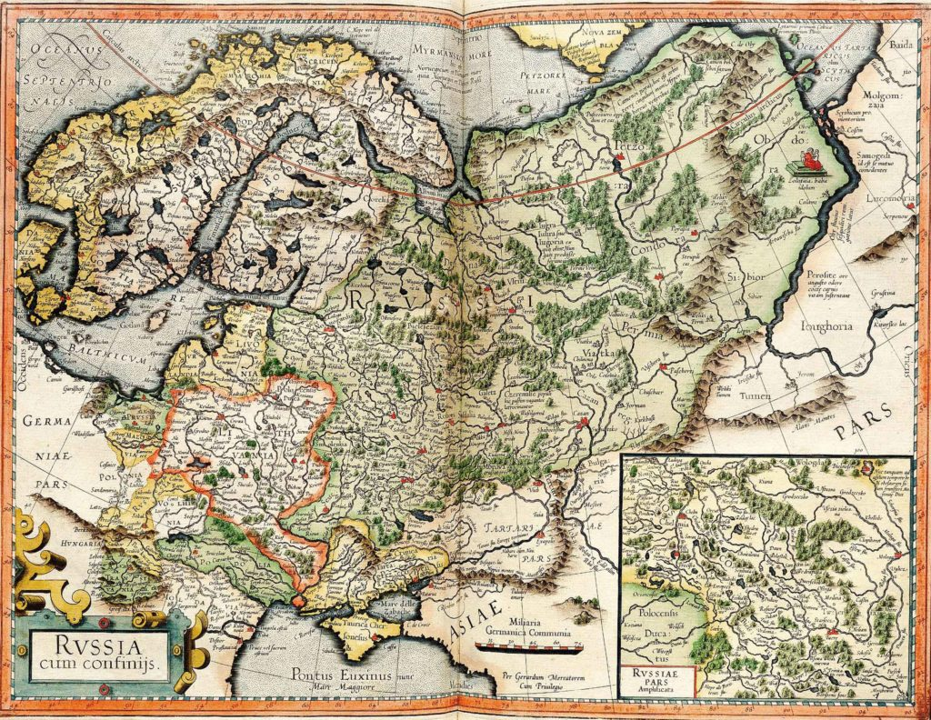 Карта Джерарда Меркатора 1595 г.