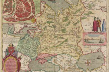 Карта Гесселя Герритса 1613 г.