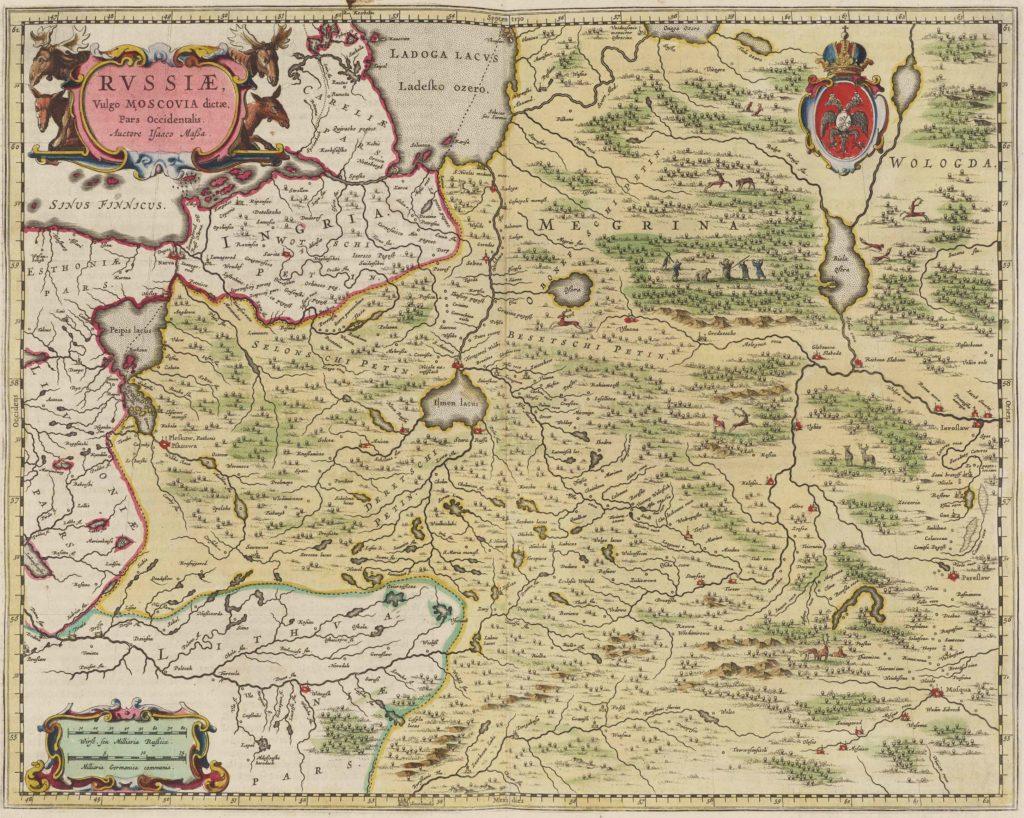 Карты Исаака Массы 1665 г.