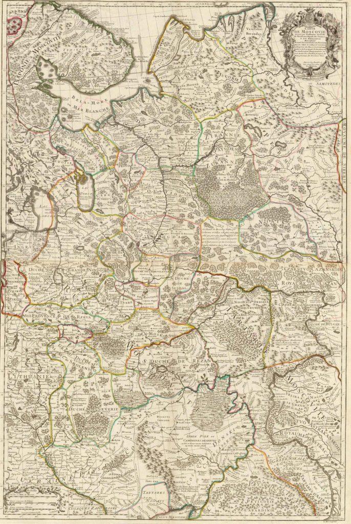 Карта Гильома Делиля 1706 г.