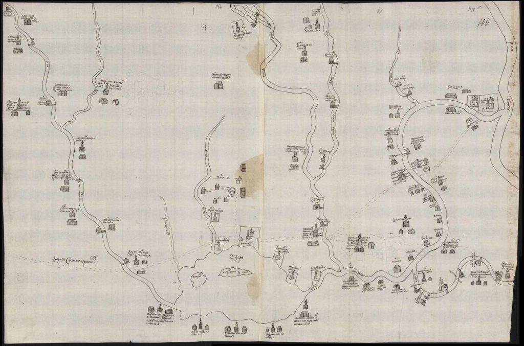 План местности вокруг города Ростова
