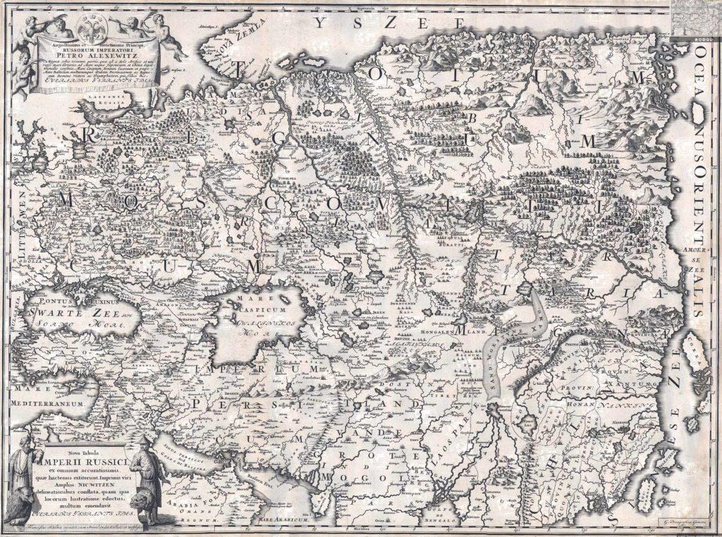 Карта Николя Витзена 1687 г.