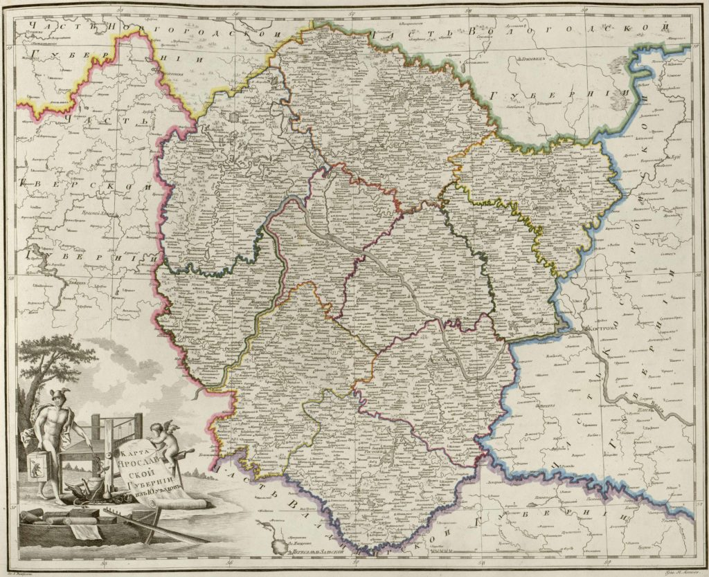 Карта Ярославской губернии 1800 г.