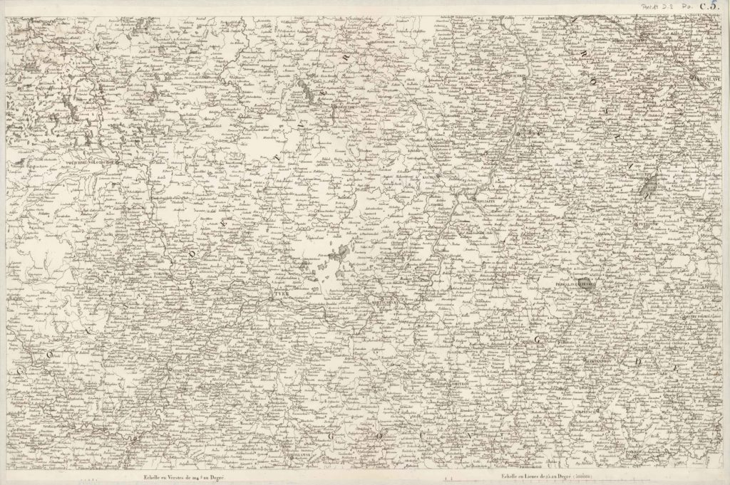 Французская карта 1812 г., л. С5 Ярославская губерния