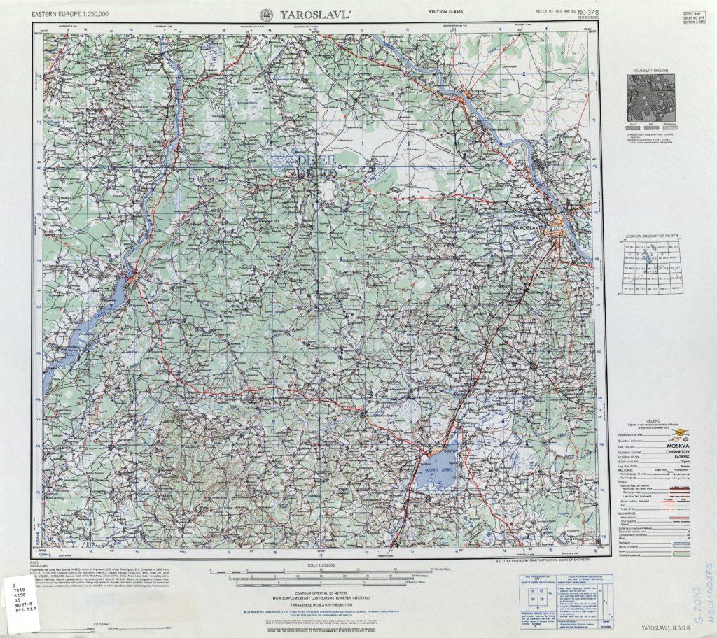 Карта Армии США 1953