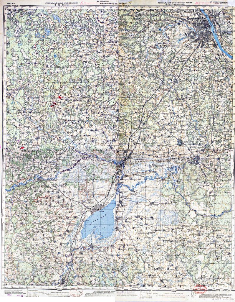Карта Генерального Штаба РККА 1941