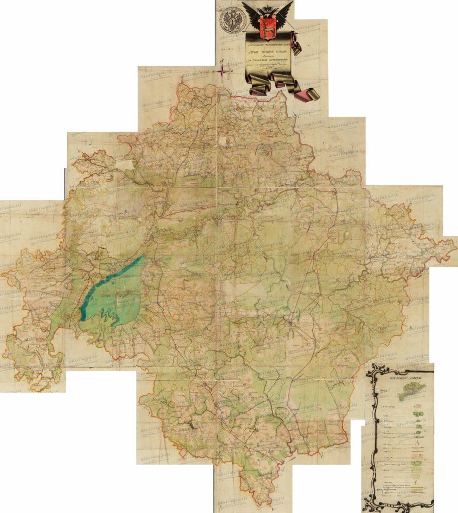 План Ростовского уезда 1792 года
