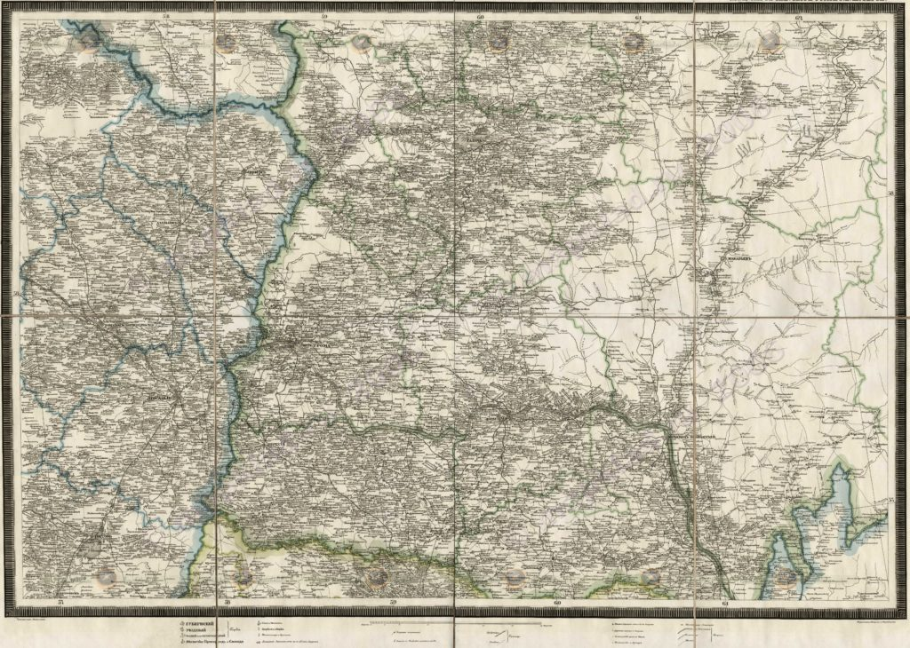 Специальная карта западной части России генерал-лейтенанта Шуберта 1824-1839гг.