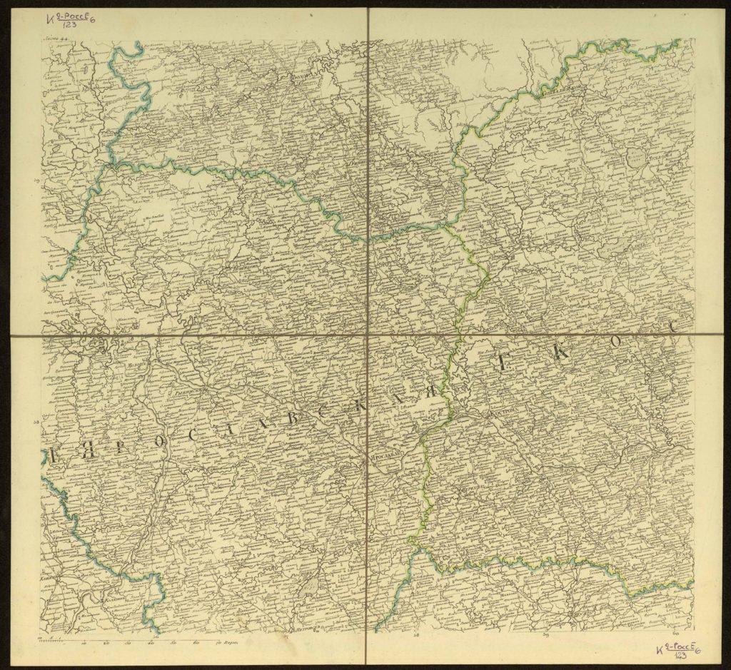 Столистовая карта, л. 44 Ярославская губерния