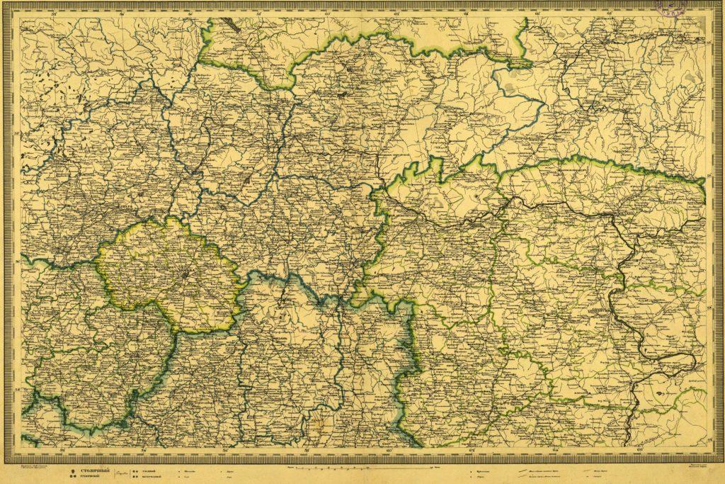 Военно-дорожная карта 1829 г.