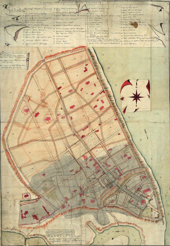 План города Ярославля 1768 г.