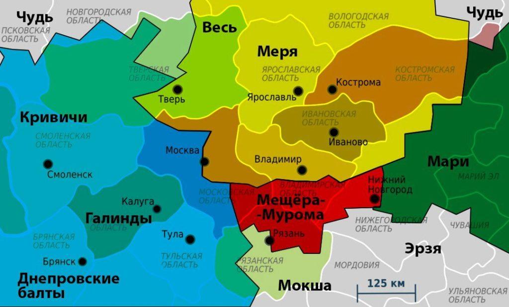 Финно-угорские племена до прихода славян
