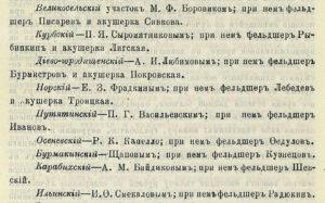 Врачебные участки Ярославского уезда