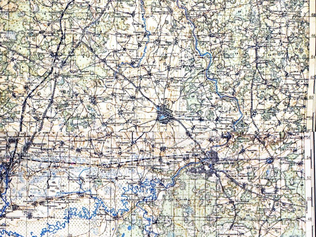 Село Великое на карте Генерального штаба РККА 1941 г.